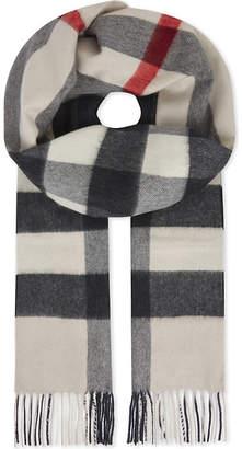 Burberry House check cashmere scarf