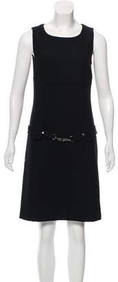 Max Mara 'S Belted Virgin Wool Dress