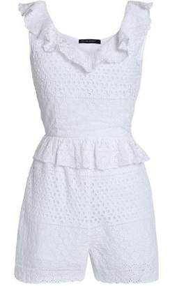 Walter W118 By Baker Pam Ruffle-Trimmed Cutout Broderie Anglaise Cotton Playsuit