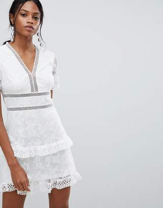 Liquorish lace Trim Dress