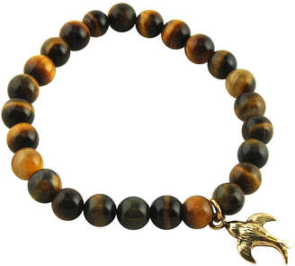 Artsmith BY BARSE Art Smith by BARSE Genuine Tiger's Eye Brass Stretch Bead Bracelet