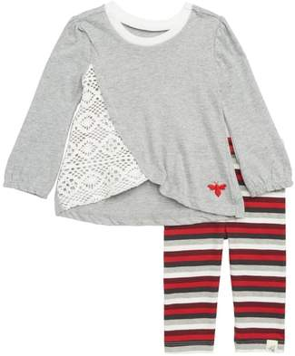 Burt's Bees Baby Crochet Inset Tunic & Leggings Set