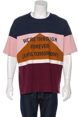 Valentino 2015 Esther Stewart Colorblock Graphic T-Shirt