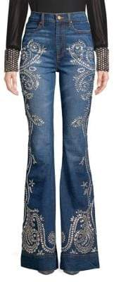 Alice + Olivia AO.LA by Beautiful Embellished Flared Jeans