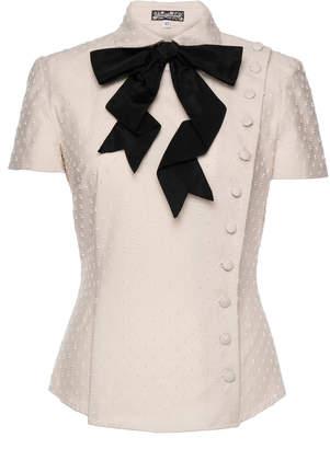 Lena Hoschek Devotion Cotton Button & Bow Blouse