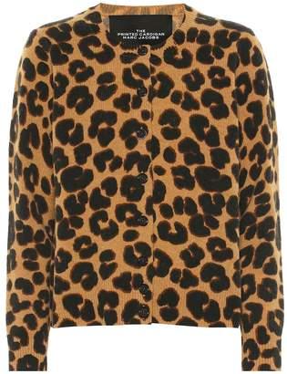 Marc Jacobs Leopard-printed wool cardigan