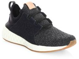 New Balance Cruz Perforated Knitted Sneakers $79.95 thestylecure.com