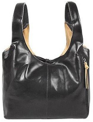 At Forzieri Fontanelli Black Tan Reversible Italian Leather Handbag