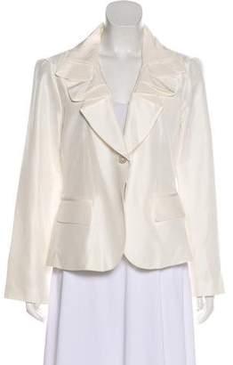 Neiman Marcus Silk Long Sleeve Blazer