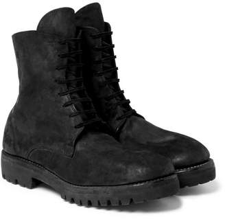 Guidi Distressed Cordovan Leather Boots