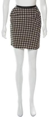 Steven Alan Wool Plaid Mini Skirt