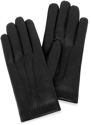 Mulberry Men's Soft Nappa Gloves Black Nappa Leather