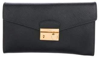 Prada Lock Envelope Wallet