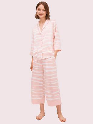 Kate Spade Zebra Capri Pj Set, Blush - Size XS
