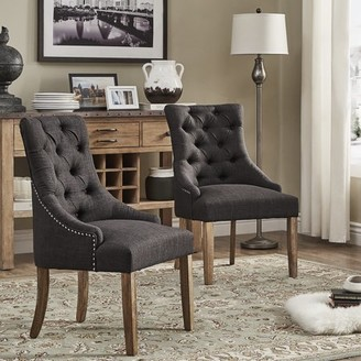 Weston Home Chelsea Lane Curved Back Tufted Dining Chair, Set of 2