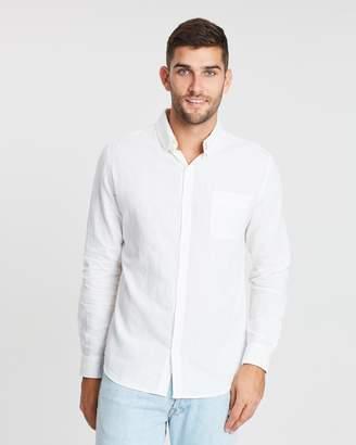 Cotton On Premium Linen Cotton Long Sleeve Shirt