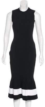 Victoria Beckham Rib Knit Midi Dress