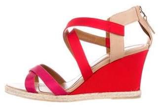 Fendi Grosgrain Wedge Sandals