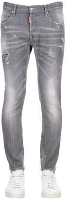 DSQUARED2 16cm Skater Grey Cotton Denim Jeans