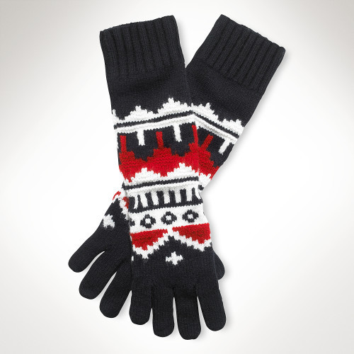Ralph Lauren Blue Label Fair Isle Glove