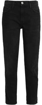Current/Elliott The Fling Cropped Frayed High-rise Slim-leg Jeans
