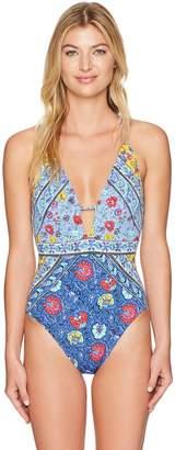 Nanette Lepore Women's Woodstock Goddess One Piece Swimsuit
