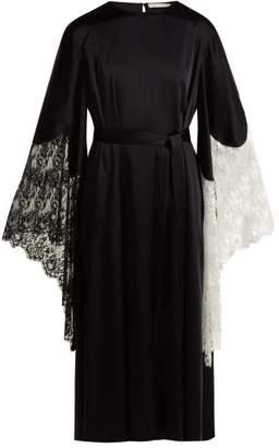 Christopher Kane Laced Trimmed Crepe Dress - Womens - Black
