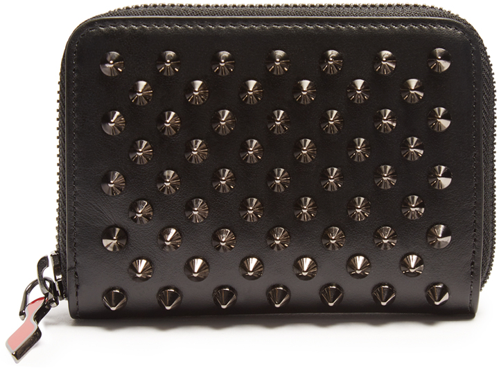 Christian Louboutin CHRISTIAN LOUBOUTIN Panettone spike-embellished leather coin purse