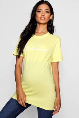 boohoo Maternity Daisy Woman Slogan T-Shirt