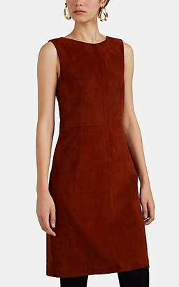 The Row Women's Hara Suede Fitted Dress - Red