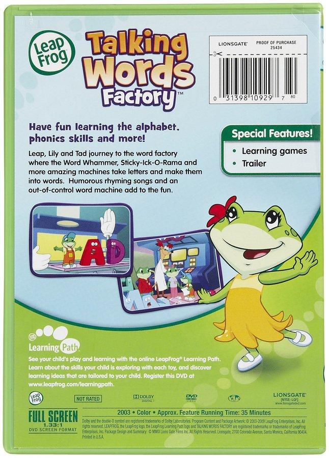 Leapfrog Talking Words Factory DVD