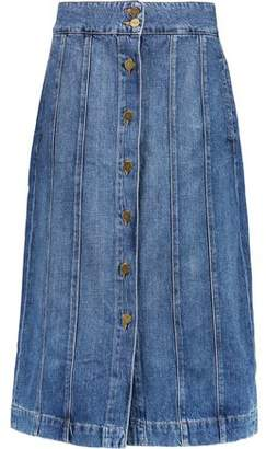 Frame Le Panel Denim Skirt