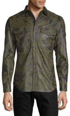 Diesel Long-Sleeve Leather Jacket