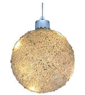 clear Christmas Shop Light-8 Light Embellished Bauble
