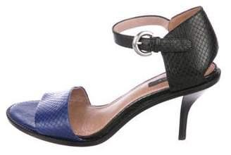 Rachel Zoe Leather Embossed Sandals