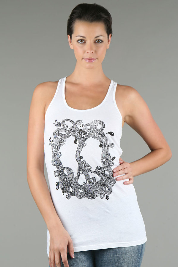 Signorelli Wave Peace Sign Racer Back Tank