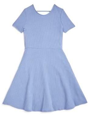 Aqua Girls' Crisscross-Back Skater Dress, Big Kid - 100% Exclusive