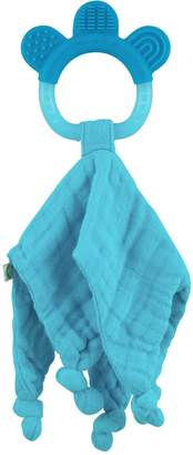 I Play green sprouts Muslin Blankie Teether made from Organic Cotton