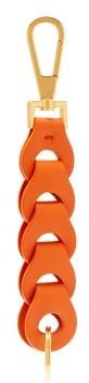 Bottega Veneta Chain Link Leather Key Ring - Womens - Orange Multi