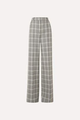 Stella McCartney Prince Of Wales Checked Wool Wide-leg Pants - Black