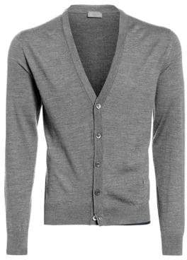 Isaia Ribbed Wool Cardigan