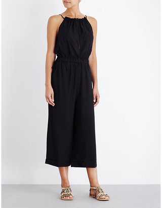 Seafolly Halterneck cropped jumpsuit $122 thestylecure.com