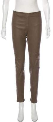 Vince Leather Skinny Leggings