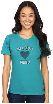 Life is good All You Need Is Heart Crusher Tee $24 thestylecure.com