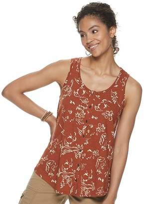 Sonoma Goods For Life Women's SONOMA Goods for Life Button-Front Swing Tank