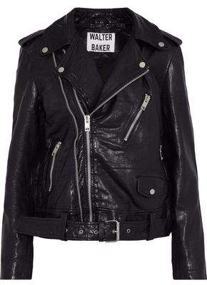 Kingsley W118 By Walter Baker Crinkled-Leather Biker Jacket