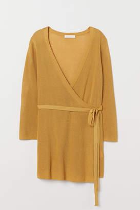 H&M MAMA Wrap-front Cardigan - Yellow