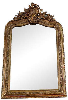 One Kings Lane Vintage Late-19th-C. Gilt French Wall Mirror