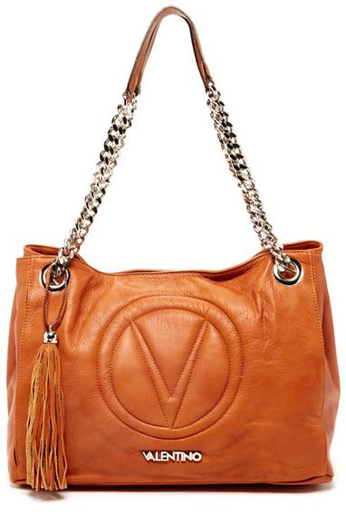 RED ValentinoValentino By Mario Valentino Verra Genuine Leather Shoulder Bag