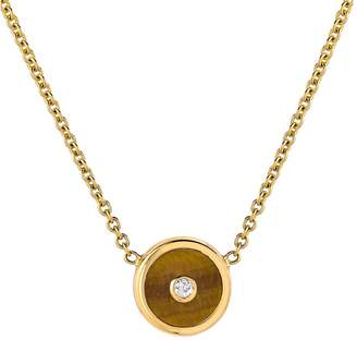 Retrouvaí Mini Tigers Eye Compass Necklace
